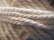 Пасма естественного шерстяного mohair yarn в белизне Стоковое Изображение RF