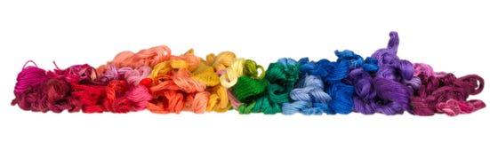 Пасма покрашенных потоков для вышивки - muline Стоковые Фото