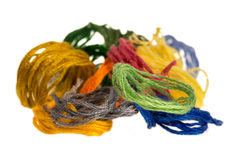 Пасма покрашенных потоков для вышивки - muline Стоковое Изображение