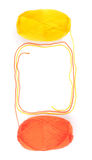 Пасма пряжи в оранжевых и желтых цветах Стоковая Фотография RF