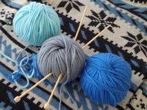 Пасма пряжи на свитере knit Стоковая Фотография