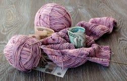 Пасма цвета пурпура пряжи Стоковая Фотография RF