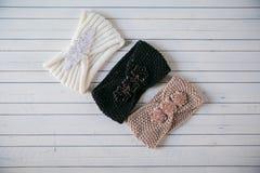 2 пасма шерстей и связанного градиента держателя Стоковое Фото