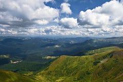 пасмурная долина неба горы Стоковая Фотография RF