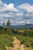 пасмурная долина неба горы Стоковые Изображения RF