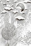 пасмурная ноча Стоковая Фотография