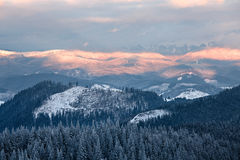 Пасмурная долина горы Стоковые Фотографии RF
