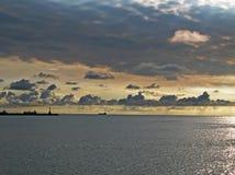 пасмурная пристань Стоковое Изображение