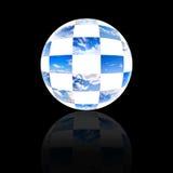 пасмурное небо глобуса собрания Стоковая Фотография RF