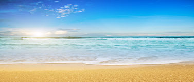 пасмурное небо моря тропическое Стоковая Фотография