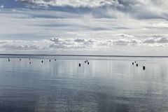 пасмурное небо моря Стоковое Фото