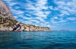 пасмурное небо моря Стоковые Фото