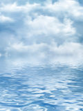 Пасмурное небо над водой иллюстрация штока