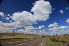 пасмурное небо прерии Стоковое Изображение RF