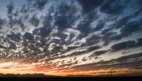 пасмурное небо сумрака стоковое изображение