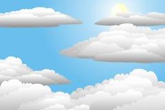 пасмурное небо Иллюстрация штока