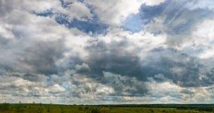 Пасмурное облако кумулюса промежутка времени вздымается промежуток времени, видео- петля сток-видео