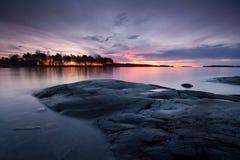 пасмурное предыдущее утро ландшафта Стоковые Фотографии RF