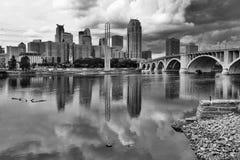 Пасмурное утро в Миннеаполисе Стоковые Изображения