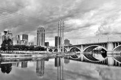 Пасмурное утро в Миннеаполисе Стоковые Изображения RF