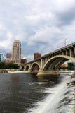Пасмурное утро в Миннеаполисе Стоковое Изображение RF