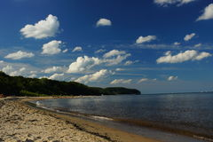 пасмурно над небом моря Стоковая Фотография