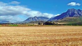 Пасмурные поля горы Стоковые Фото