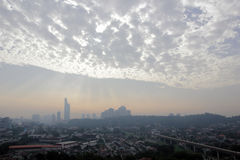 Пасмурный город Стоковое фото RF