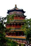 Пасмурный день на летнем дворце, Пекин, Китае стоковая фотография rf