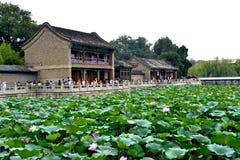 Пасмурный день на летнем дворце, Пекин, Китае стоковое изображение