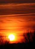 пасмурный заход солнца Стоковое фото RF