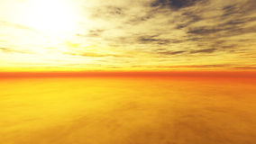 Пасмурный заход солнца 2 Иллюстрация штока
