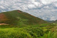 Пасмурный ландшафт в Нормандии Стоковое Изображение