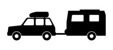 Пассажирский автомобиль с трейлером Стоковые Фото