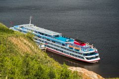 Пассажирский корабль круиза Стоковая Фотография