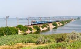 пассажирский поезд запруды электрический Стоковое Изображение RF