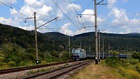 пассажирский поезд электрического паровоза видеоматериал