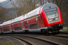 Пассажирский поезд немецкой железной дороги Стоковая Фотография RF