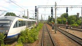 Пассажирский поезд сток-видео