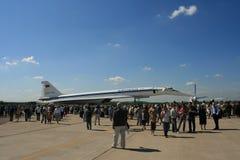 пассажирский самолет зазвуковой tu 144 двигателей Стоковое фото RF