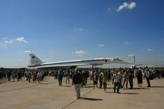 пассажирский самолет зазвуковой tu 144 двигателей Стоковое Изображение
