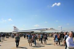 пассажирский самолет зазвуковой tu 144 двигателей Стоковые Фото