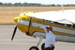 Пассажирский самолет Цессны 195 Стоковая Фотография