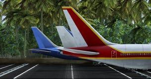 Пассажирский самолет Стоковая Фотография