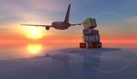 Пассажирский самолет Стоковое фото RF
