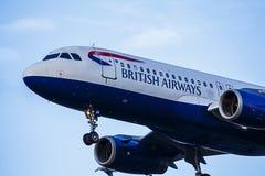 Пассажирский самолет British Airways Стоковые Изображения