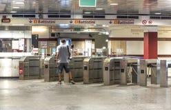 Пассажиры метро города стоковое фото rf
