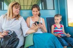 Пассажиры метро портрета стоковое фото