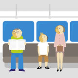 пассажиры метро Стоковая Фотография RF