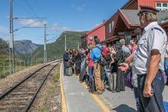 Пассажиры на станции Myrdal Стоковые Изображения RF